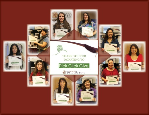 Students Say Thank You for Pick. Click. Giving!