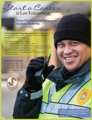 Law Enforcement Academy scholarship flyer