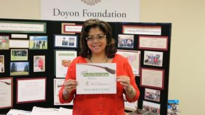 Pick. Click. Give. donor and Doyon Foundation Board President Lanien Livingston