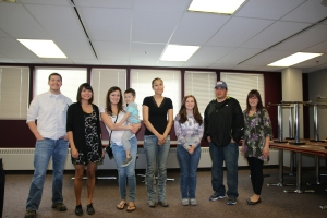 Ronald Burgett, Rachel Dewilde, Nadine Carroll and son, Stacey Demoski, Selina Powers, Travis David, Kelly Mitchell 3