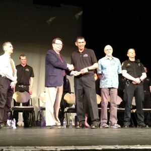 Neal Charlie graduating from the Law Enforcement Academy in May.