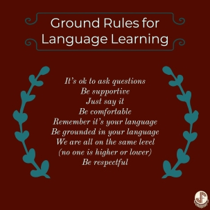 Language Learning Ground Rules from Tok 2018